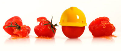 tomaat met helm