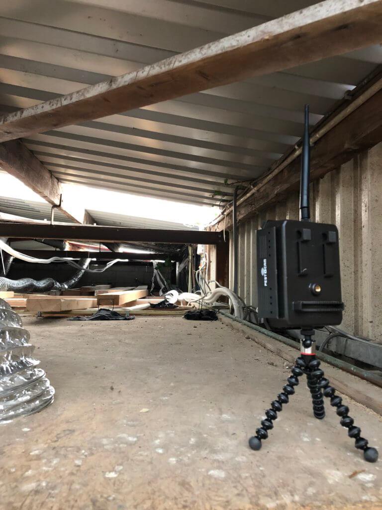 Bewegingscamera op zolder